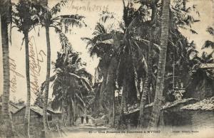 CPA Vietnam Indochine Mytho - Une Avenue de Cocotiers (62767)