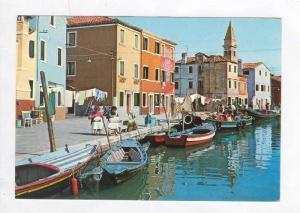 Canal Giudecca and Lace Makers on Shore, Burano, Italy 1950-70s