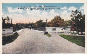 Bridge Across Longfellow Glen Minneapolis Minnesota