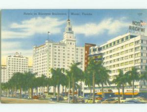Unused Linen BISCAYNE BOULEVARD HOTEL AREA Miami Florida FL hr7796