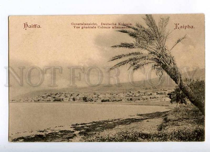 190673 ISRAEL HAIFA German colony Vintage postcard