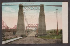 Entrance To Suspended Bridge, Saint John, NB - Unused