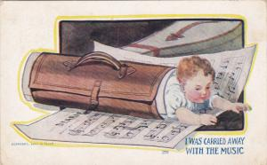 I was carried away with the music, Baby wrapped up in music sheets holder, ...