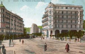 Africa - Algeria, Algiers. Michelet Road and Excelsior Hotel