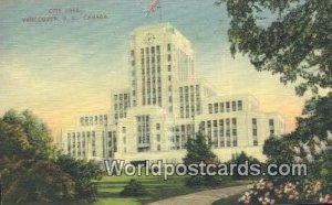 City Hall Vancouver British Columbia, Canada 1949