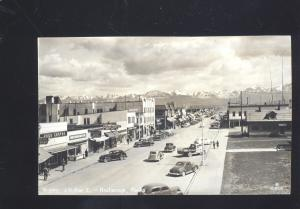 RPPC ANCHORAGE ALASKA DOWNTOWN MAIN STREET SCENE 1930's CARS REAL PHOTO POSTCARD