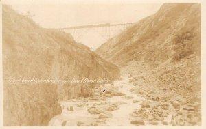 RPPC Steel Cantilever Bridge, Dead Horse Gulch, Canada WP&YR ca 1910s Postcard