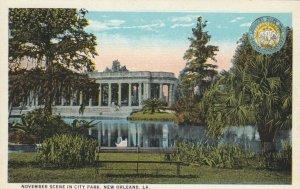 NEW ORLEANS , Louisiana , 1900-10s ; November Scene in City Park