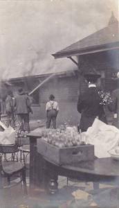 RP: #3/3 Railroad Depot Fire , Clemson , South Carolina , 1904 ;