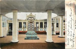 Sitka Alaska~Greek Orthodox Church~Interior~Pillars~Rugs on Steps~1907 Postcard
