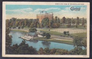Cleveland, OH Bird's Eye View of Rockefeller Park c 1920's