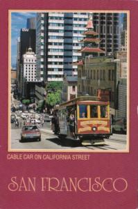 California San Francisco Cable Car On California Street