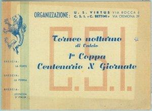 86915 - Vecchio  BIGLIETTO PARTITA CALCIO: Torneo Notturno di Calcio BRESCIA