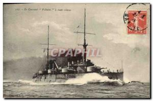 Old Postcard Boat War Dreadnoughts Voltaire full speed Breastplate