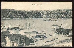 h1321 - CHICOUTIMI Quebec Postcard 1910s Harbor View