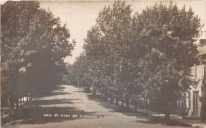 E93/ Mount Pleasant Ohio RPPC Postcard Jefferson Co 09 Main St Homes 8