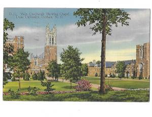 Main Quadrangle Showing Chapel Duke University Durham North Carolina