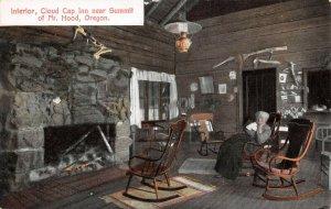 LPS62 Mt. Hood Oregon Cloud Cap Inn Interior View Postcard