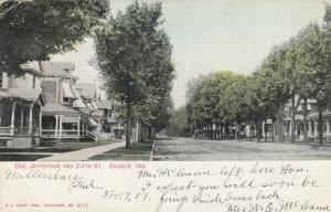 GOSHEN , Indiana, PU-1907; View showing Cor. Jefferson and Sixth St.