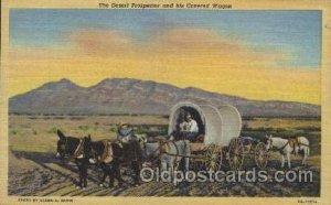 Desert Prospector & Covered Wagon Western Cowboy, Cowgirl Unused