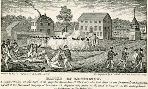 MA - Lexington, The Battle of Lexington Engravure