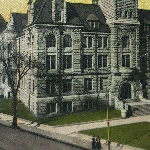 Lowell Massachusetts City Town Hall Historic District Clock Tower Postcard C116