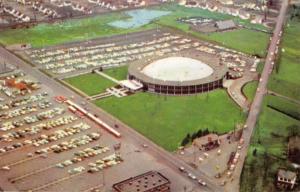 Cuyahoga Falls Ohio Cathedral Of Tomorrow Birdseye View Vintage Postcard K105807