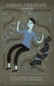 Maryam Mirzakhani Iranian Mathematician Professor Postcard