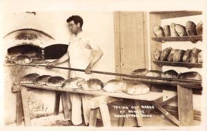 Homestead Iowa Bread Bakery Real Photo Antique Postcard K104100