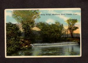 CT Swing Swinging Bridge Blackberry River Canaan Connecticut Postcard Vintage