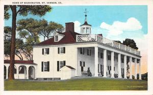 Home of George Washington, Mount Vernon, Virginia, Early Postcard, Unused