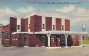 South Carolina Parris Island Post exchange Servic Station Curteich sk5184