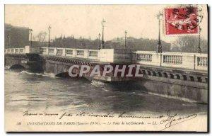 Postcard Ancient Floods of Paris January 1910 the Pont de la Concorde