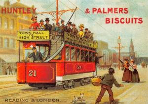 Postcard Victorian Tram Series Huntley & Palmers Biscuits Repro Advert Card #997
