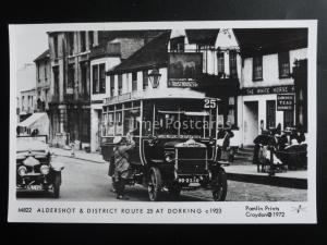 Omnibus ALDERSHOT & DISTRICT ROUTE 25 AT DORKING Pamlin Print Postcard M822