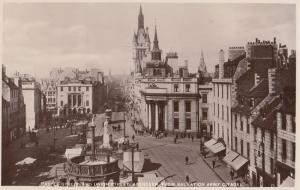 Union Street from the Salvation Army Centre Aberdeen Old Real Photo Postcard