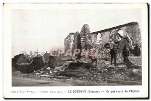 Old Postcard Militaria Le Quesnoy What remains of the church