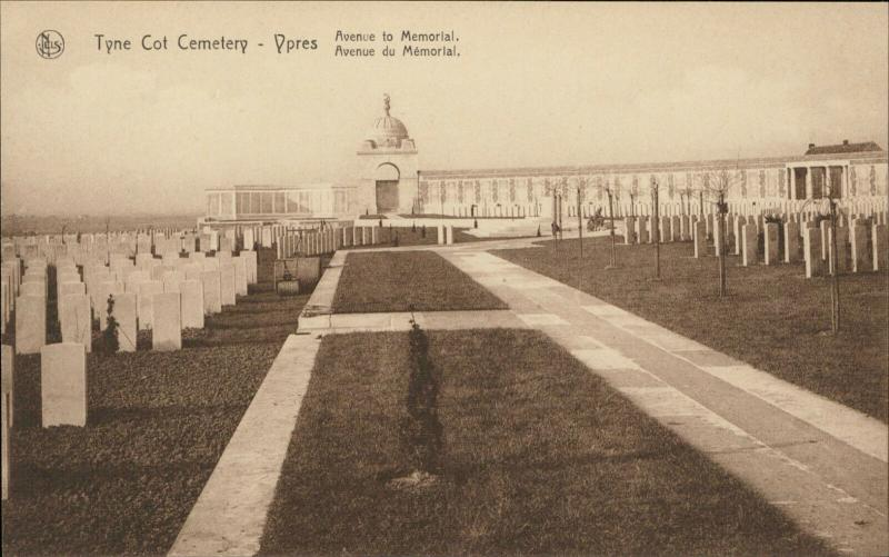 Ypres Tyne Cot Cemetery Memorial War avenue memorial