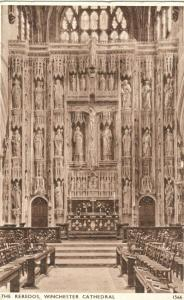 The Reredos, Winchester Cathedral  1950 used Postcard