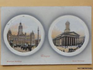 1909 - Glasgow - Municipal Buildings and Royal Exchange