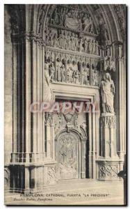 Old Postcard Pamplona Catedral Puerta La Preciosa