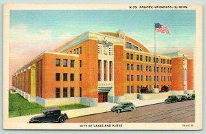 Minneapolis Minnesota~National Guard Armory~Cannon~Art Deco Building~1937 Linen