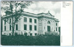 PORT HURON, Michigan  MI    PUBLIC LIBRARY  ca 1900s  UDB   Postcard