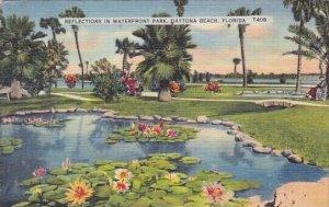 Reflections In Waterfront Park Daytona Beach Florida 1938