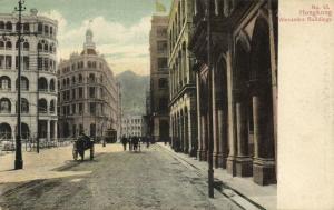 china, HONG KONG, Alexandra Buildings, Tram (1899) Postcard
