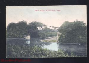 DYERSVILLE IOWA BLACK BRIDGE ANTIQUE VINTAGE POSTCARD MOSCOW IDAHO 1917
