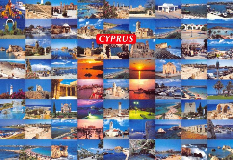 Cyprus Postcard, Multi View by Zevlaris Hartika No.159 #937