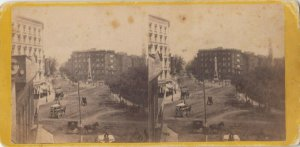 SV ; New York City , 1880s ;Broadway ,from the Balcony of St Germain's looking N