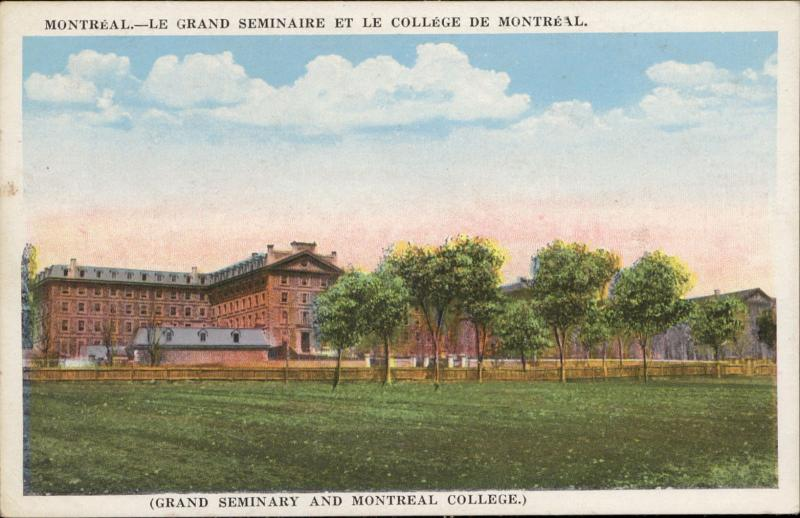 Grand Seminaire College de Montreal Grand Seminary College Canada