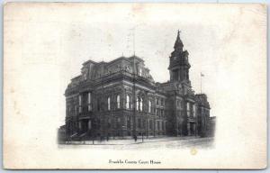 Columbus Dispatch Ohio Postcard FRANKLIN COUNTY COURT HOUSE w/ 1920 Cancel